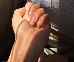 sunshine, nail, and rainbow gold silver image