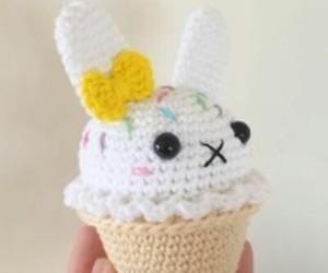bunny, plush, and amigurumi image