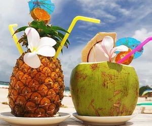 Cocktails, coconut, and pineapple image
