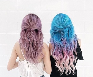 bffs, hairstyle, and friends image