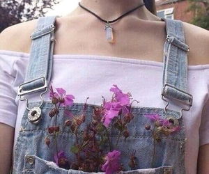 clothes, flowers, and chocker image