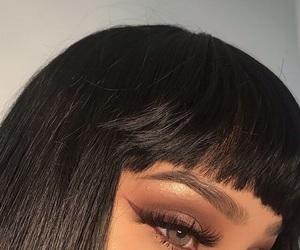 makeup, hair, and eyes image