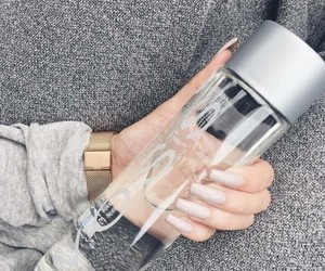 water, nails, and watch image