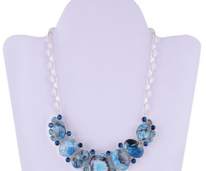 jewelry, necklace, and dainty gemstone necklace image