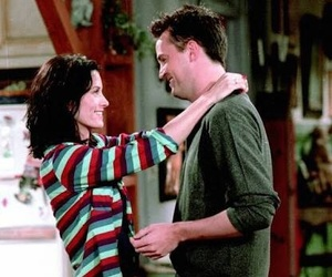 chandler bing, friends, and monica geller image