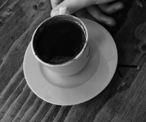 black and white and coffee image