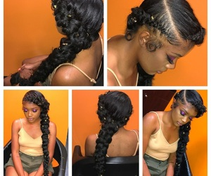 braid, weave, and long image