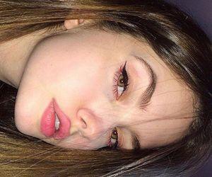 eyeliner, baddie, and lips image