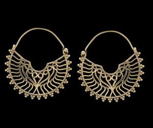 earrings, hoop earrings, and brass earrings image