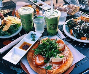 food, pizza, and healthy image