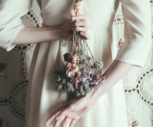 dried, flowers, and posy image