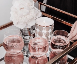 rose gold, drink, and pink image