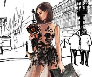 art, girl, and fashion image