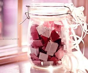 pink, love, and jar image