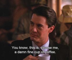 agent cooper, coffee, and dale cooper image