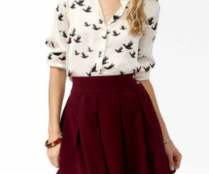 blusa, outfit, and falda image