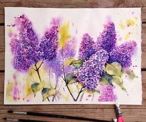 flowers, art, and drawings image