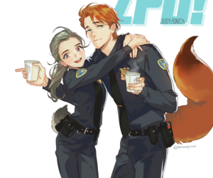 zootopia, nick, and judy image