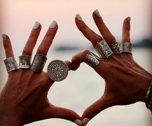 heart, jewelry, and nails image