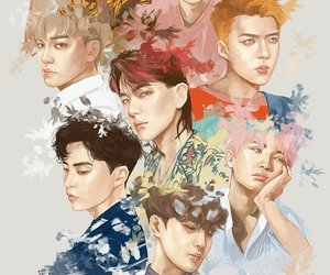 exo, exol, and kpop image
