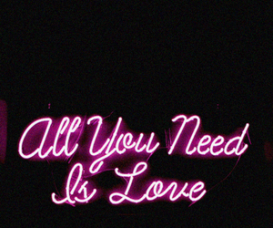 pink, love, and neon image