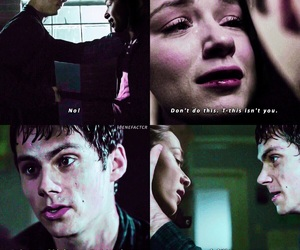 teen wolf, crystal reed, and dylan o brien image