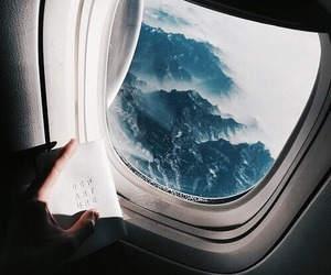 travel, airplane, and sky image