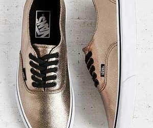vans, shoes, and gold image