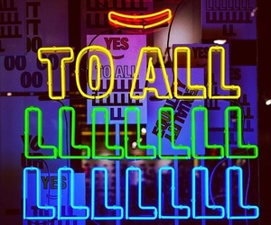 colorful, neon, and neon lights image