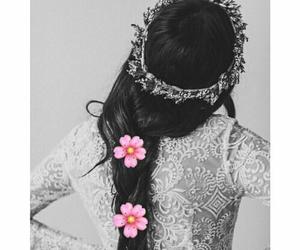 crown, hair, and princess image