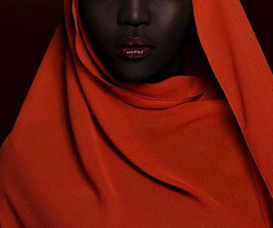 black beauty, bright colours, and dark skin image