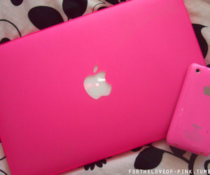 pink, apple, and iphone image
