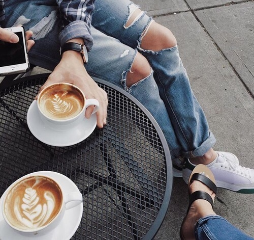 coffee, drink, and jeans image