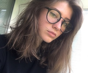 cut, glasses, and hair image