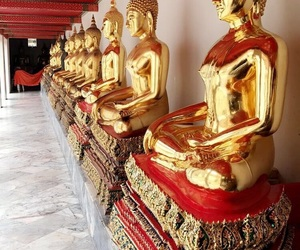 bangkok, Buddha, and gold image