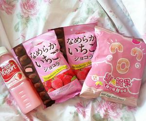 pink, kawaii, and food image