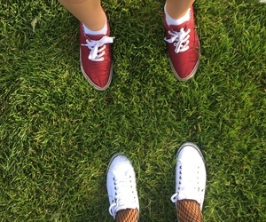 chicks, grass, and shoes image