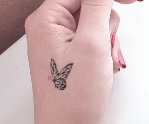 butterflies, tattos, and socute image