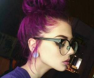 girl and purple hair image