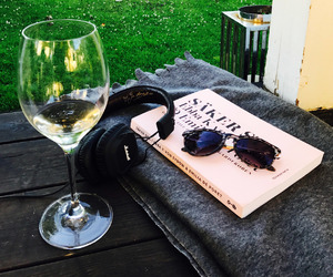 glasses, wine, and mucic image