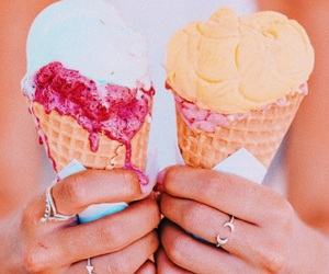 food, ice cream, and girl image