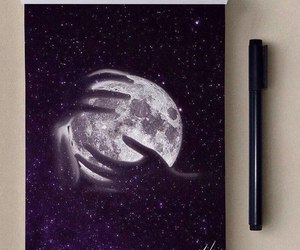drawing and moon image
