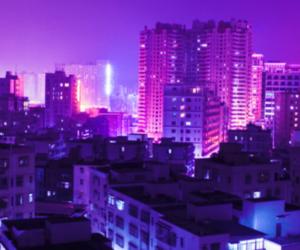city, header, and purple image