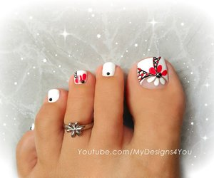 feet, nail art, and nails image
