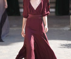 fashion, wine red, and dress image