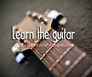 guitar, before i die, and learn image