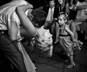 bride, flower girl, and first dance image
