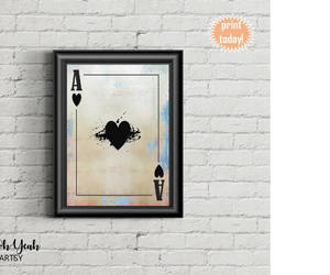 home decor, pop art, and ace of hearts image