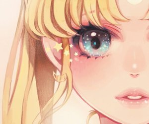 art, sailor moon, and painting image