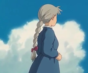 blue sky, clouds, and howl's moving castle image